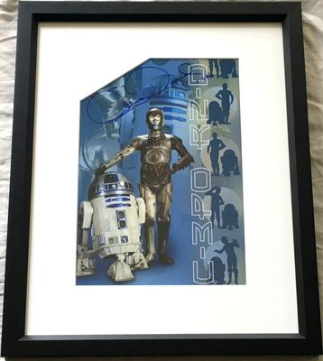 Anthony Daniels autographed Star Wars C-3PO photo matted and framed