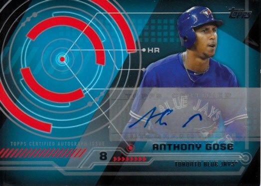 Anthony Gose 2014 Topps Trajectory certified autograph card