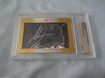 Antonio Gates 2015 Leaf Masterpiece Cut Signature certified autograph card 1/1