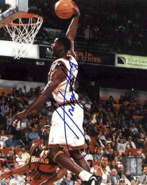 Antonio McDyess autographed Denver Nuggets 8x10 photo