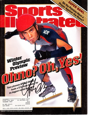 Apolo Anton Ohno autographed 2002 Winter Olympics Preview Sports Illustrated