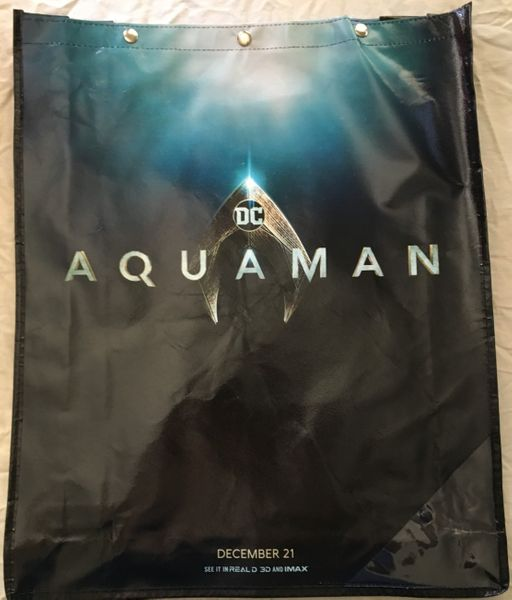 Aquaman movie 2018 Comic-Con exclusive huge promo tote bag or backpack NEW