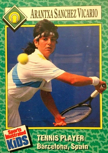 Arantxa Sanchez Vicario 1990 Sports Illustrated for Kids tennis Rookie Card (trimmed)