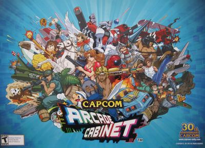Arcade Cabinet video game CAPCOM 30th Anniversary 2013 Wondercon promo 14x20 poster
