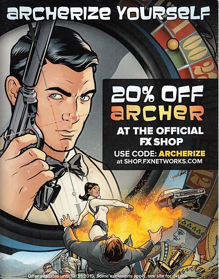 Archer 2015 Comic-Con Archerize Yourself promo card