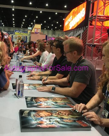 Archer cast autographed 2017 Comic-Con poster (Judy Greer Lucky Yates)
