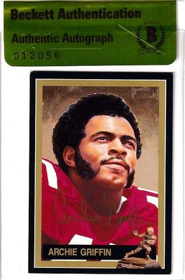 Archie Griffin autographed Ohio State 1974 Heisman Trophy card (BAS authenticated)