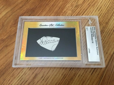 Archie Manning 2016 Leaf Masterpiece Cut Signature certified autograph card 1/1 JSA