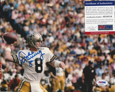 Archie Manning autographed New Orleans Saints 8x10 photo (PSA/DNA)