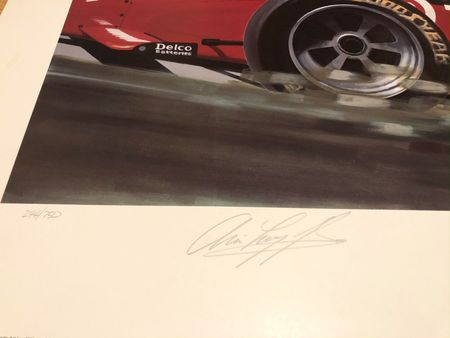 Arie Luyendyk autographed Indianapolis 500 Pole Position 20x30 lithograph #244/750