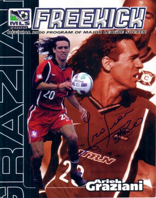 Ariel Graziani autographed 2000 MLS Dallas Burn program