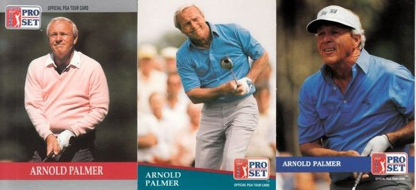 Arnold Palmer set of 3 1990 1991 and 1992 Pro Set golf cards