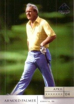 Arnold Palmer 2004 SP Signature golf card