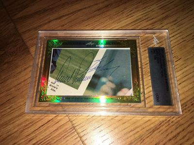 Arnold Palmer and Bert Yancey 2015 Leaf Masterpiece Cut Signature certified autograph card 1/1 PSA/DNA