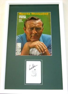 Arnold Palmer autographed Augusta National Masters scorecard matted & framed with 1969 Sports Illustrated cover