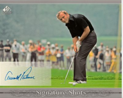 Arnold Palmer certified autograph 2005 SP Signature Golf 8x10 photo card