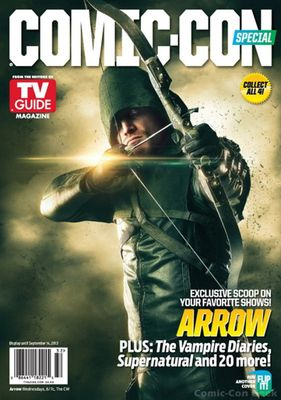 Arrow 2013 Comic-Con TV Guide magazine (Stephen Amell) with Beware the Batman poster