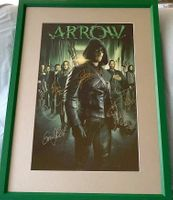 ARROW cast autographed poster matted and framed (Stephen Amell David Ramsey Emily Bett Rickards Katie Cassidy)
