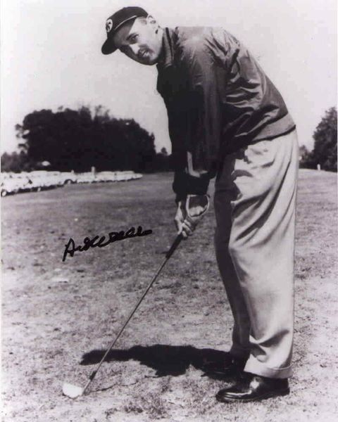 Art Wall autographed 8x10 golf photo