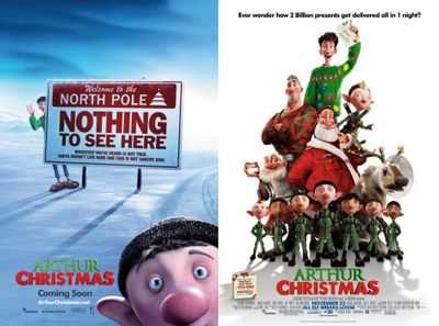 Arthur Christmas mini movie poster set (2)
