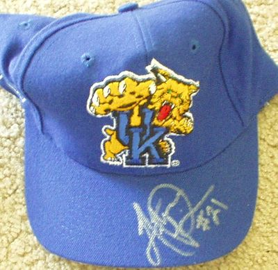 Artose Pinner autographed Kentucky Wildcats cap or hat