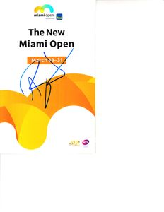 Ashleigh Barty autographed 2019 Miami Open tennis tournament map and program