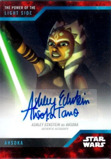 Ashley Eckstein Ahsoka Tano certified autograph Star Wars Power of the Light Side 2019 Topps card
