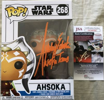 Ashley Eckstein autographed Star Wars Clone Wars Ahsoka Tano 2018 Funko Pop (JSA)