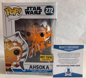 Ashley Eckstein autographed Star Wars Ahsoka Tano Clone Wars 2018 Hot Topic exclusive Funko Pop (BAS)