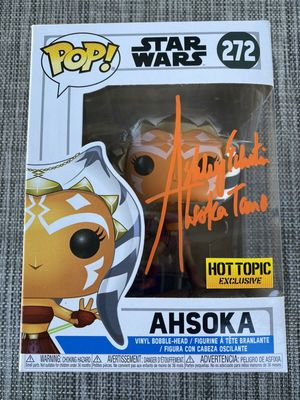 Ashley Eckstein autographed Star Wars Clone Wars Ahsoka Tano 2018 Hot Topic Exclusive Funko Pop