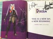 Ashley Eckstein autographed It's Your Universe First Edition hardcover book inscribed Ahsoka Tano