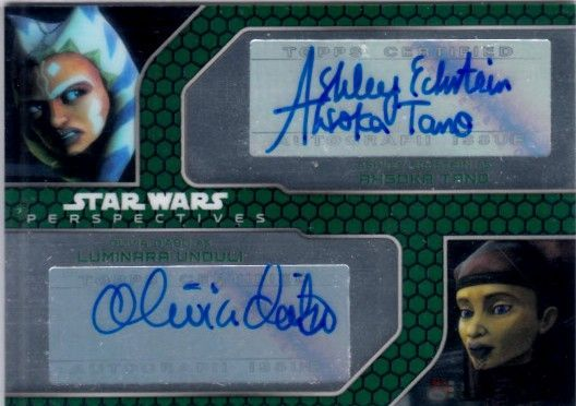 Ashley Eckstein and Olivia d'Abo certified autograph Star Wars 2015 Topps Chrome card #172/200