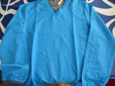 Ashworth golf sky blue windshirt BRAND NEW WITH TAGS