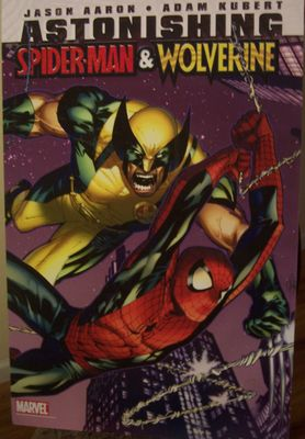 Astonishing Spider-Man and Wolverine 2010 Comic-Con Marvel booth 22x34 inch poster board