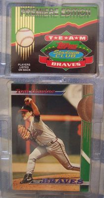 Atlanta Braves 1993 Stadium Club Team 30 card set (Tom Glavine Chipper Jones Greg Maddux John Smoltz)