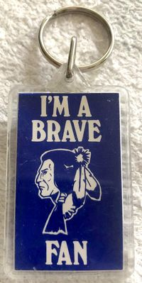 Atlanta Braves vintage 1970s or 1980s keychain