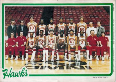 Atlanta Hawks 1980-81 Topps Pin-Ups 5x7 Team Picture