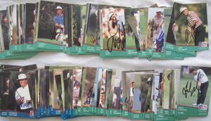 Partial set of 159 autographed 1991 Pro Set PGA Tour golf cards George Archer Gay Brewer Fred Couples John Daly Gary Player Tom Watson