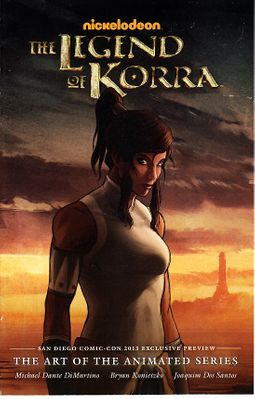 Legend of Korra Art of the Animated Series 2013 Comic-Con exclusive mini promo comic book