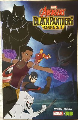 Avengers Black Panther's Quest 2018 San Diego Comic-Con 13x20 Marvel promo poster