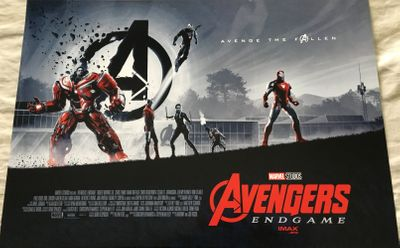 Avengers Endgame 2019 Imax mini 11 by 15 1/2 movie poster (Iron Man and Hulkbuster)