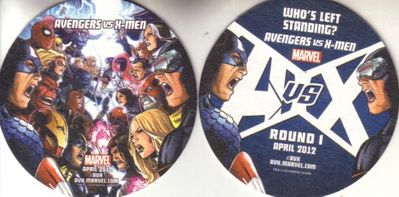 Avengers vs X-Men 2012 Wondercon Marvel promo coaster