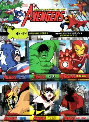 Avengers XD 2010 Sports Illustrated for Kids 6 card sheet Ant-Man Captain America Hulk Iron Man Thor Wasp