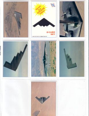 B-2 Stealth Bomber 1990 Top Pilot card set (6)