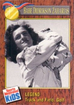 Babe Didrikson Zaharias 1990 Sports Illustrated for Kids golf card