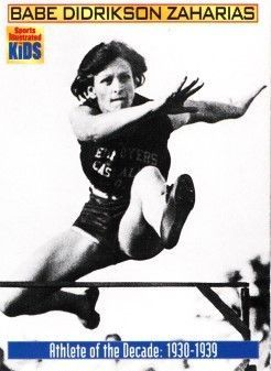 Babe Didrikson Zaharias 1990 and 2000 Sports Illustrated for Kids cards