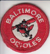 Baltimore Orioles 1980s embroidered logo patch