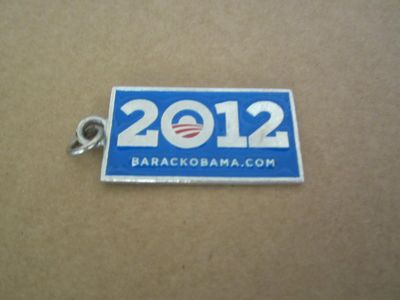 Barack Obama 2012 campaign metal keychain or key fob