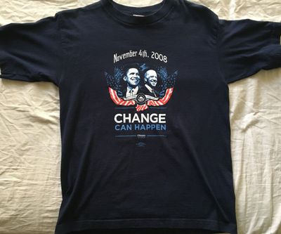 Barack Obama Change Can Happen 2008 T-shirt LIKE NEW