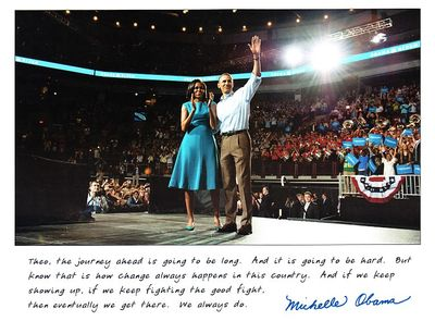 Barack Obama and Michelle Obama 2008 campaign official 6x8 inch photo